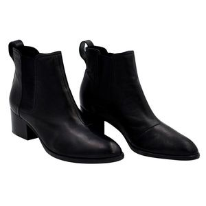 Rag & Bone Black Leather Walker Booties 40